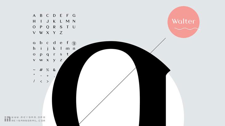 فونت و قلم انگلیسی زیبا برای بهبود کار طراحی